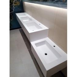 Blaty z umywalkami do łazienek komercyjnych