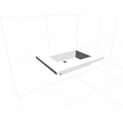 Blat kompozytowy 70cm ze zintegrowaną umywalką 45x30