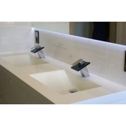 Blat kompozytowy 160cm z zintegrowanymi umywalkami