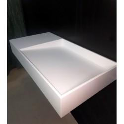 Umywalka z odpływem liniowym 90cm biała
