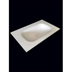 Blat 80cm umywalka wygięta bezpośrednio z blatu