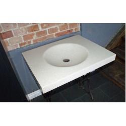 Umywalka kompozytowa beżowa drobnoziarnista 68cm